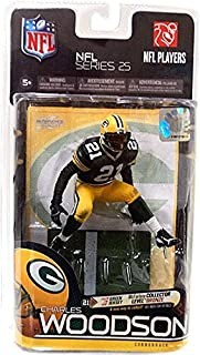 McFarlane Toys NFL Sports Picks Series 25 Action Figure Charles Woodson (Green Bay Packers) Green Jersey Bronze Collector Level Chase