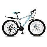 XUELIAIKEE 26 Inch Adultoo Bicicleta De Montaña,MTB Acero Al Carbono Rígida Bicicletas De Montaña Freno De Disco Doble Adultoo Bicicleta De Montaña con Suspensión Delantera-C 21 Velocidad