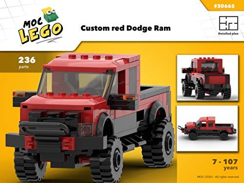Custom red Dodge Ram (Instruction Only): MOC LEGO (English Edition)