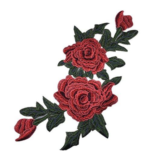 Chakil 1 pcs Pivoine Fleur Tissu Stickers Patch Chaussures Chapeaux Sacs Accessoires Applique Crafts