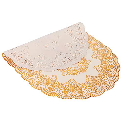 Tapis de table, set de table Protecteur de table Tapis de table antidérapant pour cuisines familiales pour dortoirs de cafés pour(Oval pattern 01)