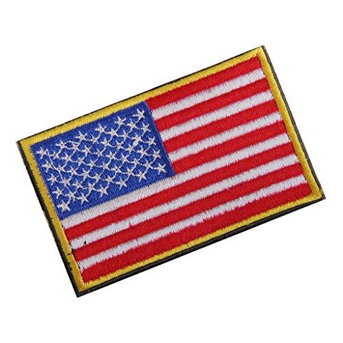 EE.UU. Bandera Americana Gancho Bordado Táctico Placa De Sujeción De Bucle