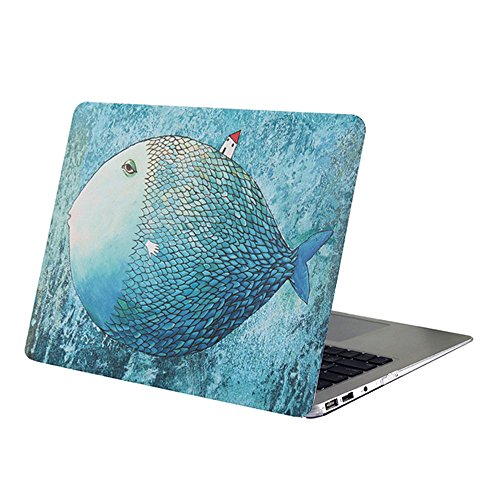 AUSMIX MacBook Pro 15 inch Case 2018/2017/2016 Release (A1707/A1990) - Scratch Proof Hard Plastic Cover Slim Shell Smooth Rubber Oil Coating Protective Case for Mac Pro 15 - Big Fish