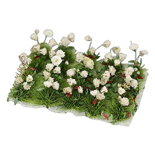 FITYLE Miniatura Realista Flor clúster Modelo ferrocarril Jardín de Hadas Paisaje Hierba construcción Kit de Mesa de Arena Diorama diseño - Gardenia