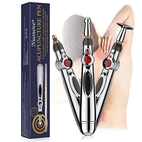 Akupunkturstift, Akupunktur Stift Elektrischer, Elektronischer Massagestift, 3 in 1 Elektronisches Elektrischer Meridian-Akupunkt-Energiemassager zur Schmerzlinderung