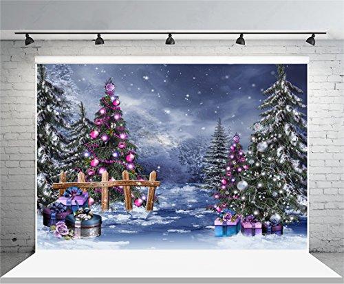 Leowefowa 3x2m Vinilo Navidad Telon de Fondo Setter de Escena de Navidad Telón de Fondo de árbol de Bosque de Nieve Copo de Nieve Fondos para Fotografia Party Infantil Photo Studio Props Photo
