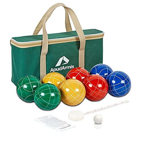ApudArmis Bocce Balls Set, Outdoor Family Bocce Game for Backyard/Lawn/Beach - Set...