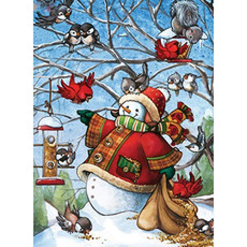 Juego de rompecabezas de 1000 piezas para adultos y familias jóvenes Muñeco de nieve de dibujos animados Rompecabezas divertido, difícil y desafiante juego de rompecabezas con impresión brillante