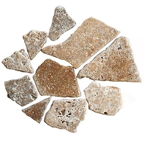 Travertin Noce Travertinbruch Bruch Mosaik 10 mm lose Ware