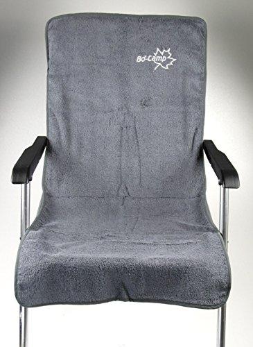 Stoelbekleding S badstof middelgrijs voor campingstoelen 108x47cm