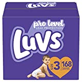 Luvs Triple Leakguards Diapers, Size 3 (168 Count) - Packaging May Vary