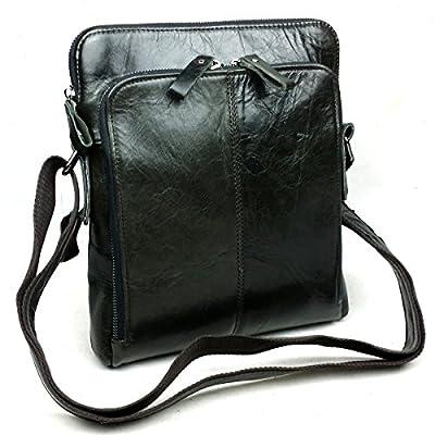 Baigio Sac en Cuir Sac de Messager Sac en bandoulière Besace Sacoche Sac de Loisir Sac de Voyage Sac à la Mode Sac pour Homme