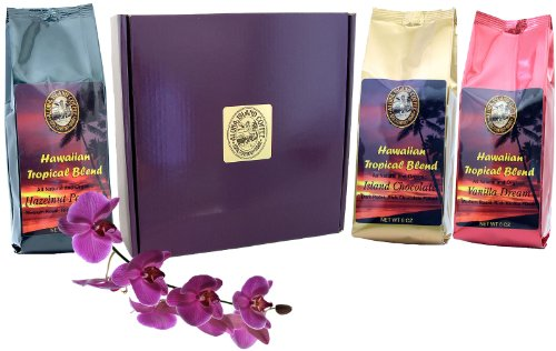 Kona Hawaiian Flavored Coffee of the Month Club, Shipped Monthly for Six Months, Great For Coffee Lovers Who Love Flavored Coffee, an All Occasions Gift