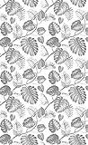 Deco&Fun - Alfombra Vinílica Nature Tropical Palm Gris 110x180cm - Alfombra PVC Alfombra vinílica Cocina- Alfombra vinílica salón - Alfombras de Vinilo