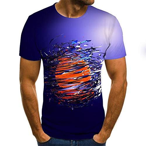 T-Shirt d'été pour Hommes T-Shirt 3D Sweat-Shirt 3D personnalité d'impression à Manches Courtes Hip Hop O-Neck Top XXL Txu-1482