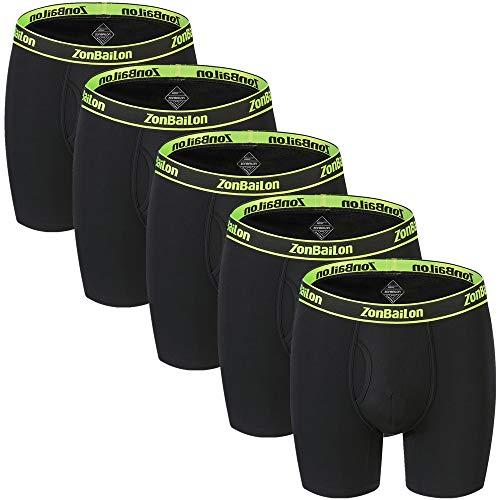 "Boxer Briefs for Men Pack Athletic Underwear No Ride 6 Inch Long Leg Breathable Big Boxer Briefs xl xlb 40""-42"""