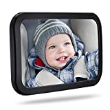TOPELEK Rücksitzspiegel, Spiegel Auto Baby, Rückspiegel Baby Autospiegel Shatterproof Car Rückspiegel kompatibel mit meisten Auto drehbar doppelriemen, 360° schwenkbar für Baby...