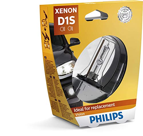 Philips 85415XVS1 Xenon Vision - Bombilla (D1S, xenón, 1 unidad)