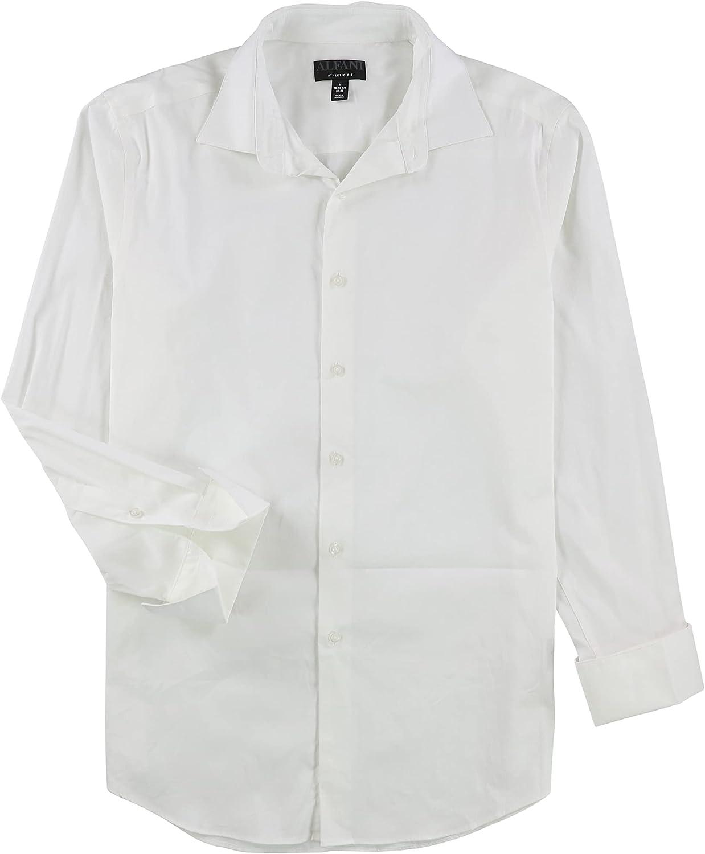 Alfani Mens Athletic Fit Button Up Dress Shirt