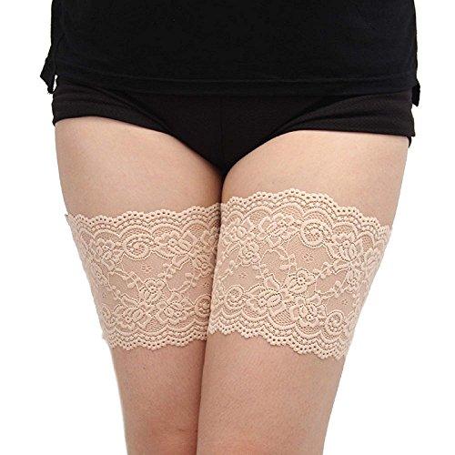 ASKSA Damen Elastic Anti Chafing Schenkel Bands Lace Bow Oberschender Slim Socke Oberschenkelb?nder B?nder Socke Anti-Scheuern
