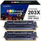 GPC Image 203X 203A - Cartucho de tóner para HP 203X 203A CF540X CF540A HP Color Laserjet Pro MFP M281fdw M281fdn M281cdw M280nw Pro M254dw M254nw M254dn