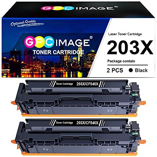 GPC Image Tonerkartusche Kompatible für HP 203X CF540X für Color Laserjet Pro MFP M281fdw M281fdn M281cdw M280nw M254dw M254nw M254dn(Schwarza, 2er-Pack)