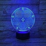 3D Illusion Night Light,3D Home Light Led Tischleuchte Fc
