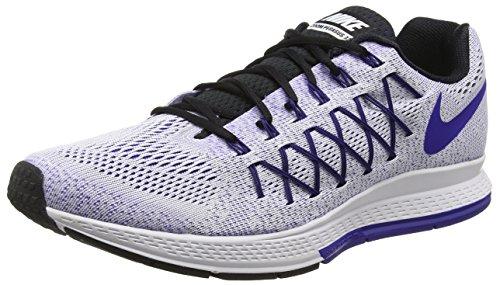 Nike Air Zoom Pegasus 32, Scarpe da Trail Running Uomo, Bianco (White/Concord/Black), 45.5 EU