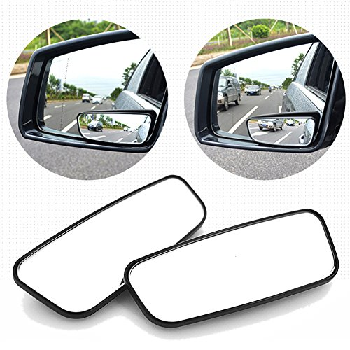 DOGKLDSF Blind Spot Mirrors For Car, Rectangle Curved Rearview Mirror,expanded Field Of View, 360° Rearview Mirrors For Gm, Trucks, Trucks, Motorcycles -2 Pack