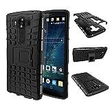 pinlu® Funda para LG V10 Smartphone Doble Capa Híbrida Armadura Silicona TPU + PC Armor Heavy Duty Case Duradero Protección Neumáticos Patrón Negro