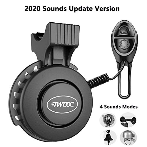 2020 Electric Bike Horn Bell, 4 Soft Sound Modes,50-100 DB Volume Adjustment,Waterproof Battery Rechargeable,Loud Bicycle Horn Ring for Mountain Road Bike Scooter BMX MTB,Women,Men,Kids