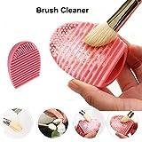 Molie 1 Stück Pinsel-Reinigung Silikon Pinselreiniger Kosmetikpinsel Reinigung Mat Make