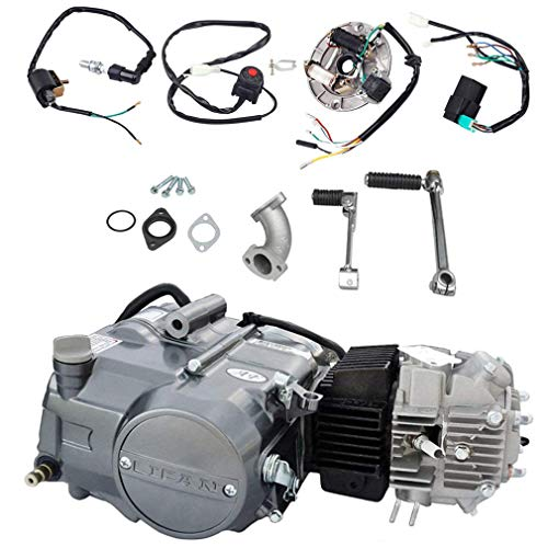 TDPRO Lifan 125cc Engine Motor And Wire Harness Wiring Kit for XR50 CRF50 XR CRF 50 70 ATC70 110 ATC70 Z50 CT70 CL70 SL70 XL ST70 Dirt Pit Bike Kawasaki Motorcycle