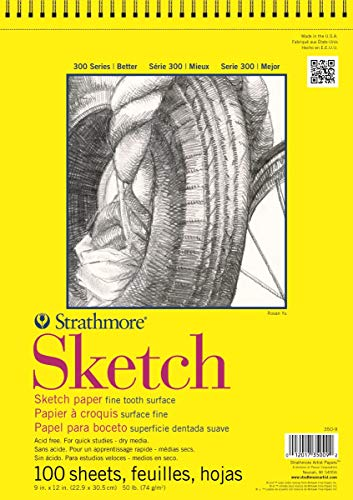 Pro-Art 350900Papel Strathmore Espiral Bloc de Papel (30,5x 30,5cm, 100Hojas
