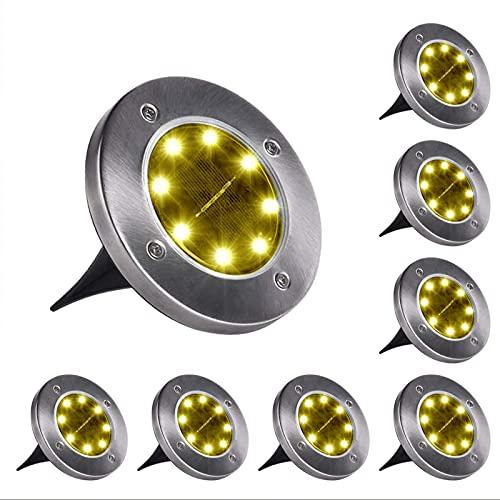 Garten Solar Weg Licht 8 Stück 8 LED Licht Garten Automatische Sensor Licht Wasserdicht, Bodenleuchte Geeignet Für Den Garten