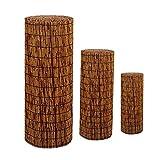 MikusangT Valla de caña Natural Estor Enrollable de Bambú Natural persianas enrollables de Madera Persianas de Bambu Exterior para Patios Jardines Interiores Exteriores Personalizables Valla de caña