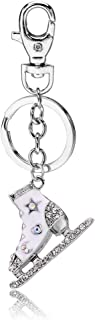 Liavy's Ice Skating Shoe Charm Fashionable Keychain - Sparkling Crystal - Unique Gift and Souvenir