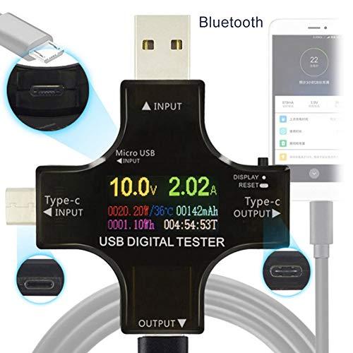 Syfinee Meter Tester Multifunction Type-C USB LCD Digital Multimeter Voltage Current