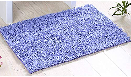 Alfombras de Baño, Alfombrilla de Baño Antideslizante Microfibra Suave Alfombra Lavar a Maquina Adecuado para Sala de Estar/Cocina/Dormitorio de Interior/Exterior (Púrpura)