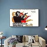 Liuqidong Vlies Leinwandbild Dirty Harry Poster Neo Noir
