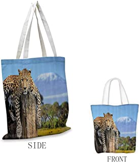 Tote Shopping Bag, Eco Friendly Super Strong Reusuable - for Crafts, Shopping, Groceries, Books, Welcome Bag, Diaper Bag, Beach, and Much More, Wildlife Decor - 11