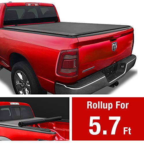 MaxMate Soft Roll Up Truck Bed Tonneau Cover for 2019-2020 Ram 1500 New Body Style | Fleetside 5.7' Bed | Without Rambox | NOT for Classic
