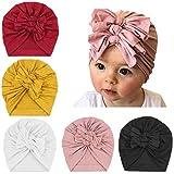DRESHOW 5 Pezzi Baby Cappelli Turbante Simpatici e Accoglienti Berretti e Cappellin per In...