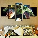 BHJIO Impresiones sobre Lienzo 5 Cuadros En Lienzo Modernos Dormitorios Murales Pared Lona XXL Grande Hogar Cuadros Decora Salón Piezas Hul 4 – Movie