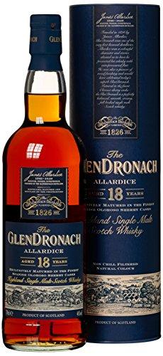 Glendronach 18 Years Old Allardice Oloroso mit Geschenkverpackung  Whisky (1 x 0.7 l)