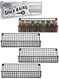 Aesthetic Farmhouse Spice Racks For Wall Mount - Space Saving And Easy...