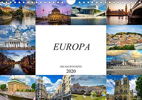 Europa Die Hauptstädte (Wandkalender 2020 DIN A4 quer): Zwölf wunderschöne Bilder der schönsten Städte Europas (Monatskalender, 14 Seiten ) (CALVENDO Orte)