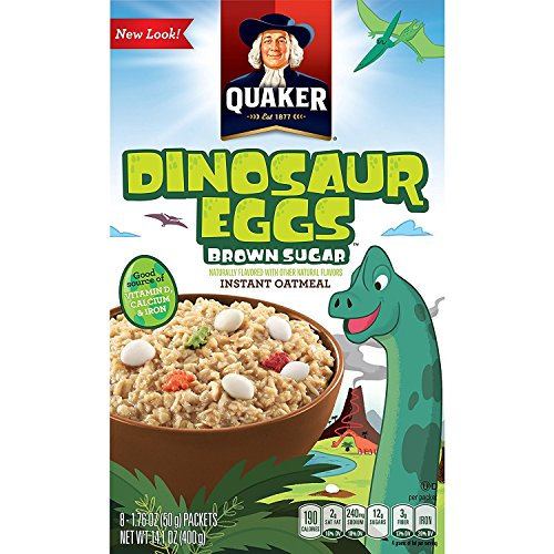 Quaker Instant Oatmeal, Dinosaur Eggs & Brown Sugar, Individual Packets, 32 Count