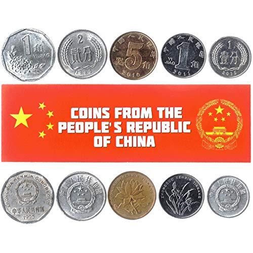 5 Monedas Diferentes - Moneda Extranjera China Antigua Y Col