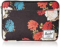 in budget affordable Herschel Anchor MacBook / iPad Sleeve – Black Floral Vintage 13inch